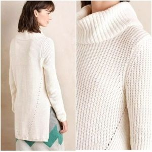 •Anthropologie• Moth High Low Turtleneck Sweater